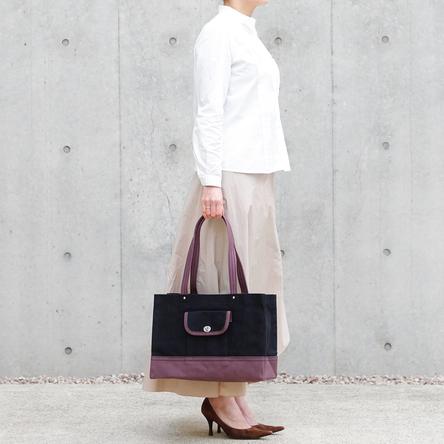 黒 × 紫 / モデル: 160 cm