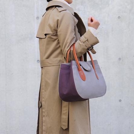 グレー × 紫 / モデル: 165 cm