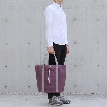 紫 × グレー / モデル: 180 cm