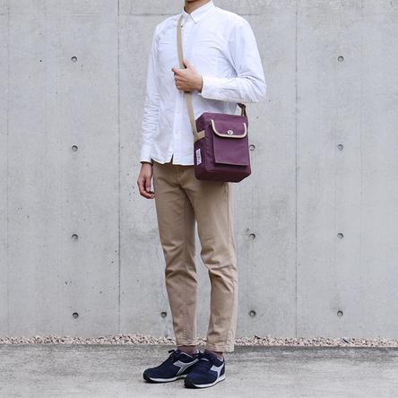 紫 × ベージュ / モデル: 180 cm