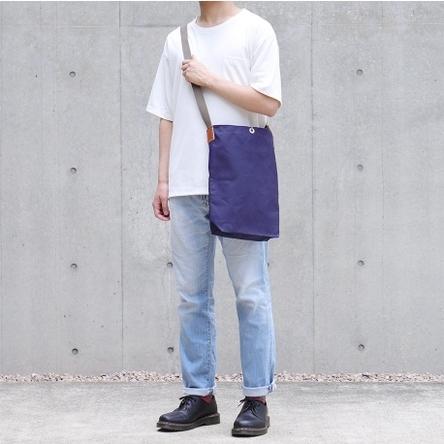 紺 × グレー / モデル: 180 cm