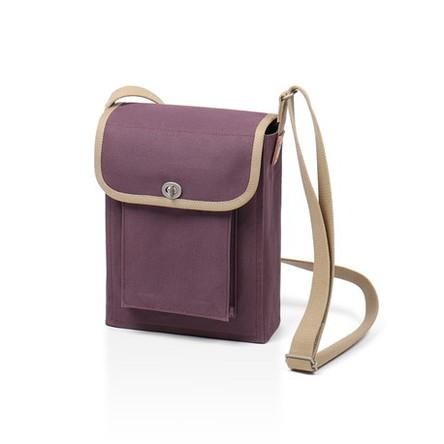 紫 × ベージュ