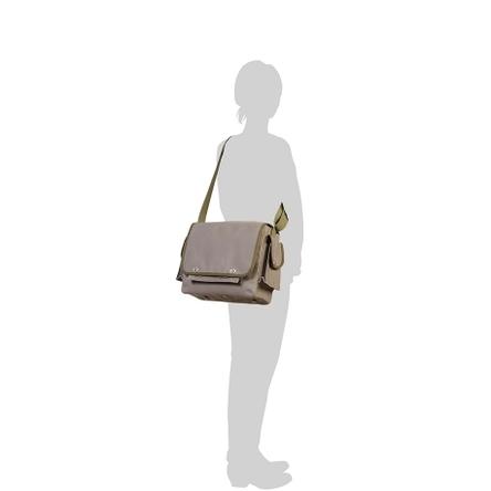 グレー × オリーブ / モデル: 160 cm