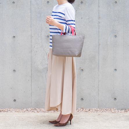 Gray × Japanese red / model: 160 cm