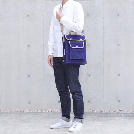 紺 × ベージュ / モデル: 175 cm