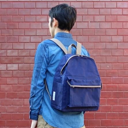 紺 × グレー / モデル: 175 cm